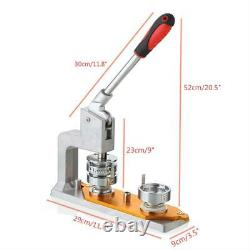 3 Rotated Button Maker Punch Press Machine Die Mould 75mm Mold 300 Pin Badge US