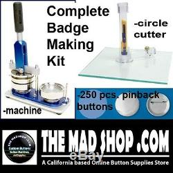 3 inch PIN BADGE BUTTON MAKER MACHINE SET (Complete Button/Badge Making Kit)
