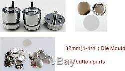 44mm 1-3/4 Interchangeable Button Maker Machine Badge Material KIT