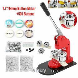 44mm Badge Maker Machine Set Punch Press Machine 500 Button Sets Mould