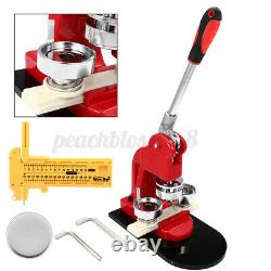 44mm Badge Making Machine Manual DIY Badge Maker with Mold & 500pcs Button Part