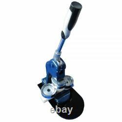 44mm Button Maker Machine Badge Press + 1000 Button Supplies + Circle Cutter