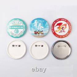 500Set 25-75mm ABS / Metal Pin Badge Button Parts Supplies for Pro Maker Machine