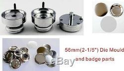50mm 2 Interchangeable Button Maker Machine Badge Material KIT