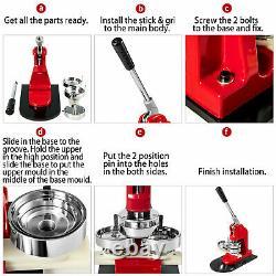 58mm 2.28 Button Maker Badge Punch Press Machine 500pcs Parts Circle Cutter US