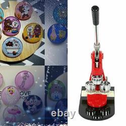 58mm 2.28 Button Maker Machine +1000 Buttons Circle Badge Punch Press Pin USA