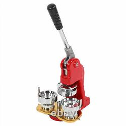 58mm/2.28 Button Making Machine DIY Badge Press Round Pin Maker with 500pc Button