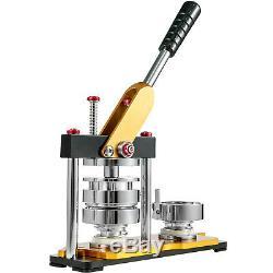58mm(2.3'') Button Badge Maker Press Machine 200Pcs Metal Slid Rotate Handle
