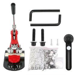 58mm Button Maker Badge Punch Press Machine 1000 Pin Parts +Circle Cutter Kit