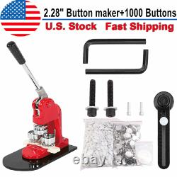 58mm Button Maker Badge Punch Press Machine Free 1000 Part Circle Cutter