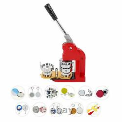 58mm DIY Badge Button Maker Machine Round Pin Badges Tool & 500pcs Buttons Kit
