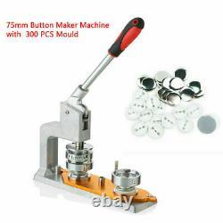 75MM Button Maker Manual Button Badge Machine Hand Press Button Making Machine