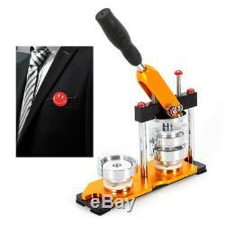 75mm(2.95'') Button Badge Maker Press Machine 100Pcs Rotate Buttons Bottle Metal