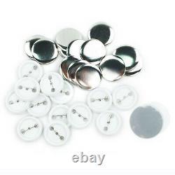 75mm 3'' Badge Button Maker Machine + 300 Buttons Circle Badge Punch Press USA