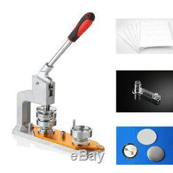 75mm Button Badge Pin Maker Machine Punch Press & 300PCS Buttons UPS SHIPPING