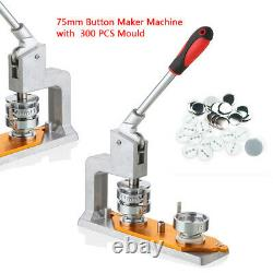 75mm Mold 300 Pin Badge 3 Button Maker Punch Press Machine Die Mould US STOCK