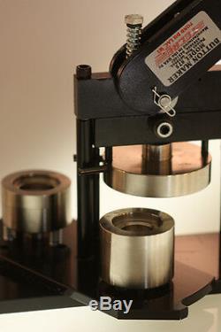 7/8 Button Pin Maker / Badge Machine Press +500 complete button parts