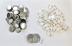 All Metal 32mm Badge Button Maker Press Machine+Circle Cutter 100 Button Supplie