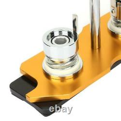 Aluminum Alloy 1''/25mm Rotate Button Machine Manual Badge Maker with100 Buttons
