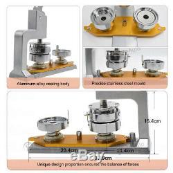 Aluminum Alloy Badge Button Maker Machine 300 Sets Button Supplies Circle Cutter