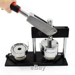 Aluminum Badge Making Machine Button Punch Press DIY Round Pin Art Maker 25-58mm