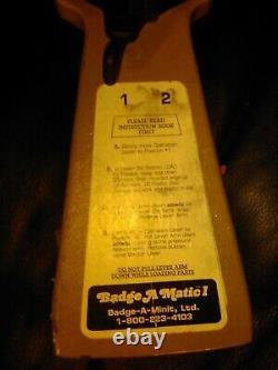 BADGE A MATIC 1 BUTTON MAKER Hand Press HEAVY DUTY