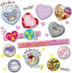 BANDAI Button Badge Maker Can Badge good! Plus! 20 Badges
