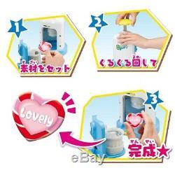 BANDAI Button Badge Maker Can Badge good! Plus! 80 Badges Heart + Regular Toy