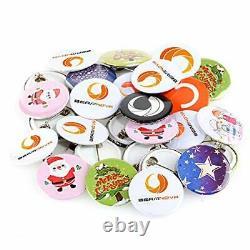 BEAMNOVA Button Badge Maker Machine 1000 pcs Button Parts 1-1/2 Inch Machine