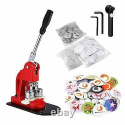 BEAMNOVA Button Badge Maker Machine 1 inch with 1000 Button Parts and Circle
