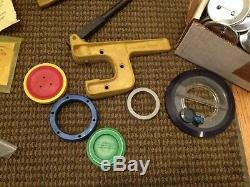 Badge A Matic Button Maker 3 Badge Press Lot Parts Extras Accessories Etc