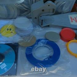 Badge-A-Minit 2 1/4 Button Maker With Bench Press, Circle Cutter Ring Sets DVD