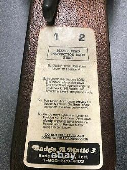 Badge-A-Minit 3 Button Maker Badge-A-Matic MACHINE #1900