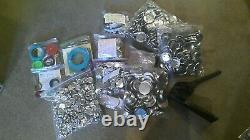 Badge-A-Minit Button Pin Maker 2 1/4 and 1 1/4 HUGE LOT Bench Press + Supplies