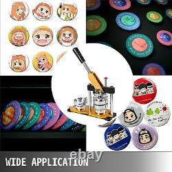 Badge Button Maker 37mm 1.45'' + 200 FREE Buttons Circle DIY Badge Punch Press