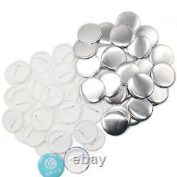 Badge Button Maker Machine 75mm Moulds+ 300DIY Buttons Circle Badge Punch Press