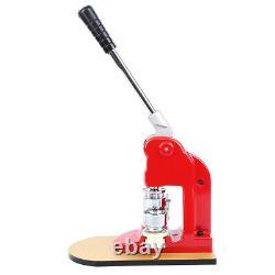 Badge Button Maker Making Machine +500 Die Mold Punch Press Circle Cutter 58MM