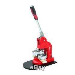 Badge Button Maker Punch Press Machine Supplies+1000 Part+Circle Cutter Useful