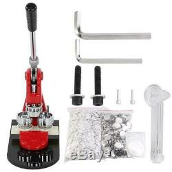 Badge Button Maker Punch Press Machine with Circle Cutter Making Gift +1000 Parts