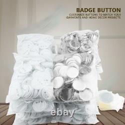 Badge Button Pin Maker Machine, 58mm Die Mould, 1000 Sets Button Parts Supplies