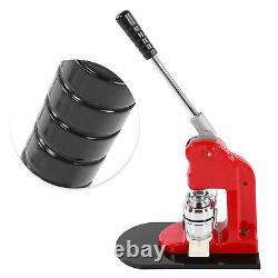 Badge Maker Machine Equipment with 500 Buttons 44mm Set Red Aluminum Frame Punch