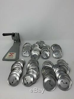 Badge a MinitA Matic Semi Automatic Button Maker Machine2.25 Massive Tool lot