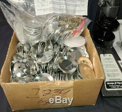 Badge-a-matic I Machine Badge-a-minit 2-1/4 Button Maker W Lots Of Xtras Nice