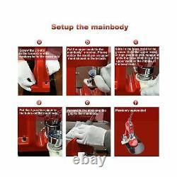 Button Badge Maker Machine, Eyerayo 58mm 2-1/4 Inch Badge Punch Press Tools W