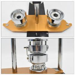 Button Badge Maker Punch Press Machine & 300PCS Round Pin Parts & Circle Cutter