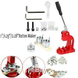 Button Badge Punch Press Maker Machine 1000pcs Circle Button Parts&Circle Cutter