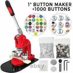 Button Maker 1 Inch 25mm Badge 1000pcs Aluminum Frame Free Parts Circle Cutter