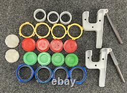 Button Maker Badge-A-Matic I, Badge A Minit Hand Press, Rings, Discs Lot