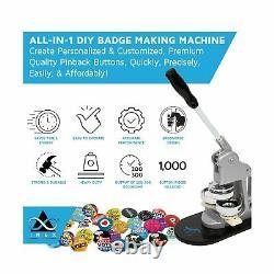 Button Maker Badge Making Machine 58mm (2¼ inch) Heavy Duty Circle Cutter P