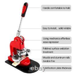 Button Maker Badge Press 100Pcs Circle Cutter Manual Making Machine 75mm 3